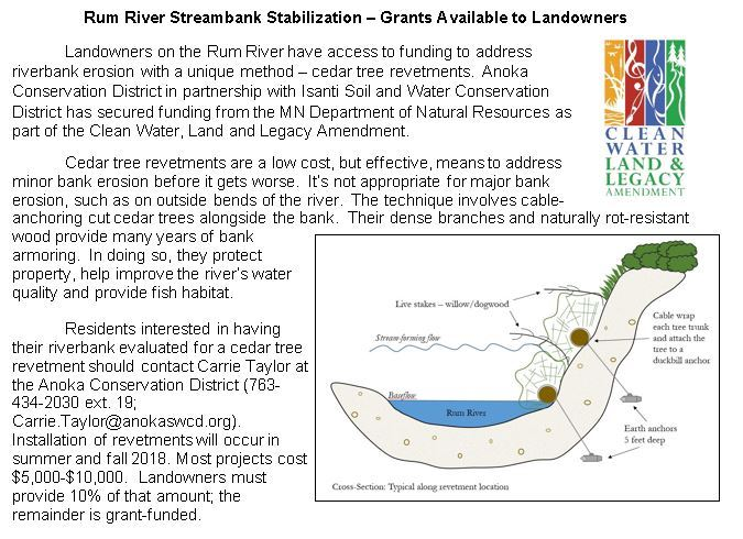 Rum River Streambank Stabilization Article