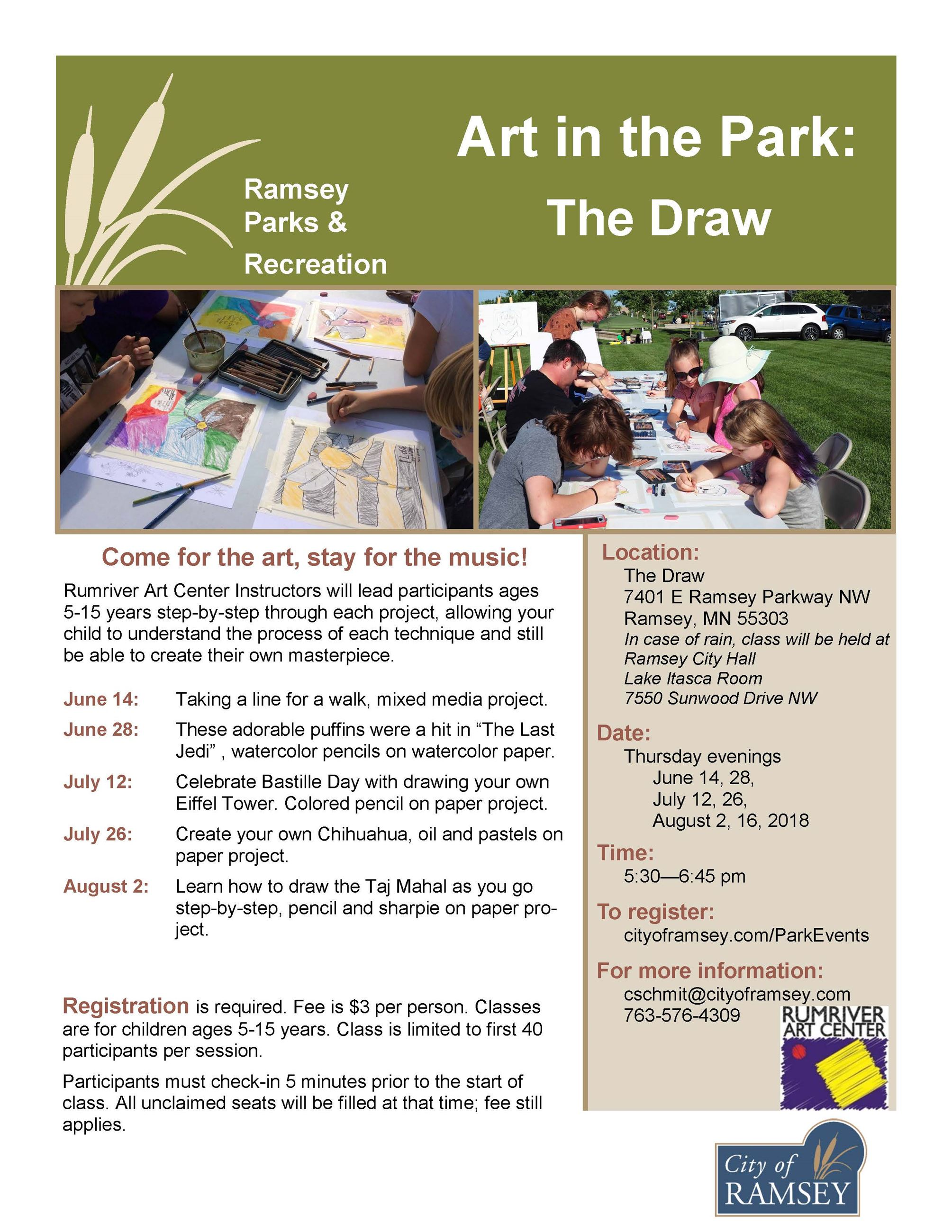 Art in the Park The Draw