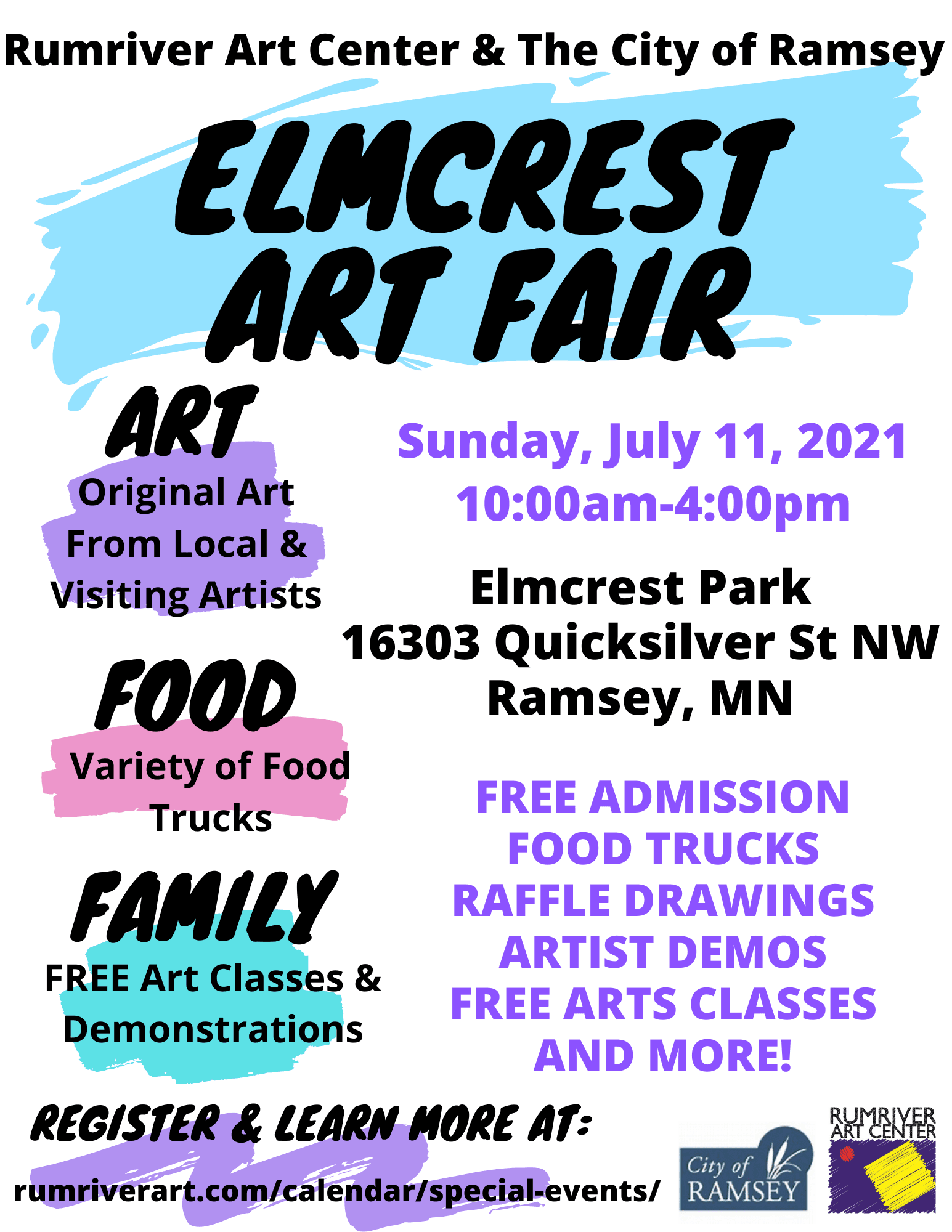 Elmcrest Art Fair Flyer 2021